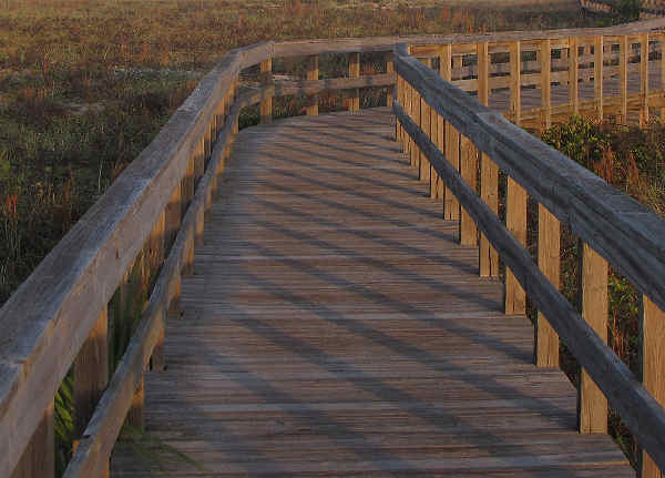 picture of a boardwalk at the beach