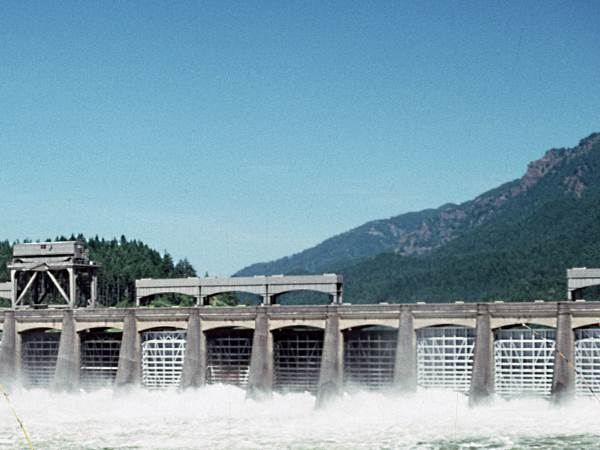 picture of the Bonneville Dam on the Columbia River